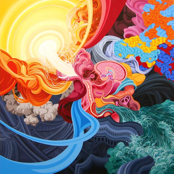 acrylic on canvas 120cm x 120cm 2008