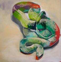 "Slither 20"" x 20"" in progress"